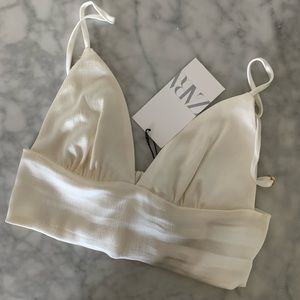 Zara Silk crop tank